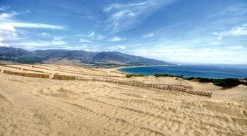 Vista sobre Valdevaqueros (bajo amenaza) - Costa de la Luz