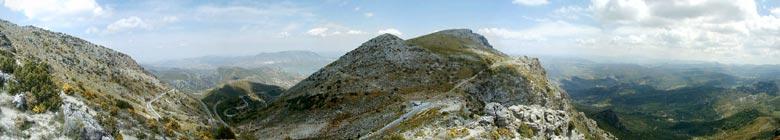 Naturpark Sierra de Grazalema, Cadiz - Andalusien, Spanien.