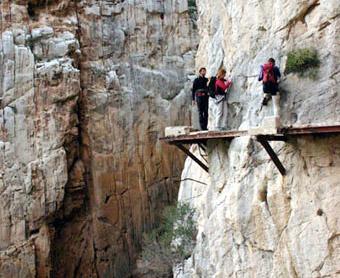 El Chorro / Desfiladero de los Gaitanes - Malaga, Andalusie, Spanje.