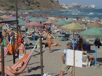 Costa del SOL, one of the beaches of Malaga