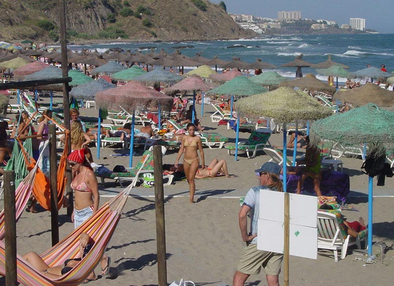 Costa del SOL Beaches of Malaga Andalusia Spain