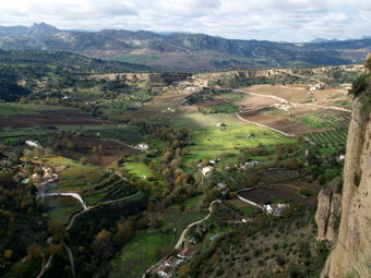 View from the 'balcony' of Ronda