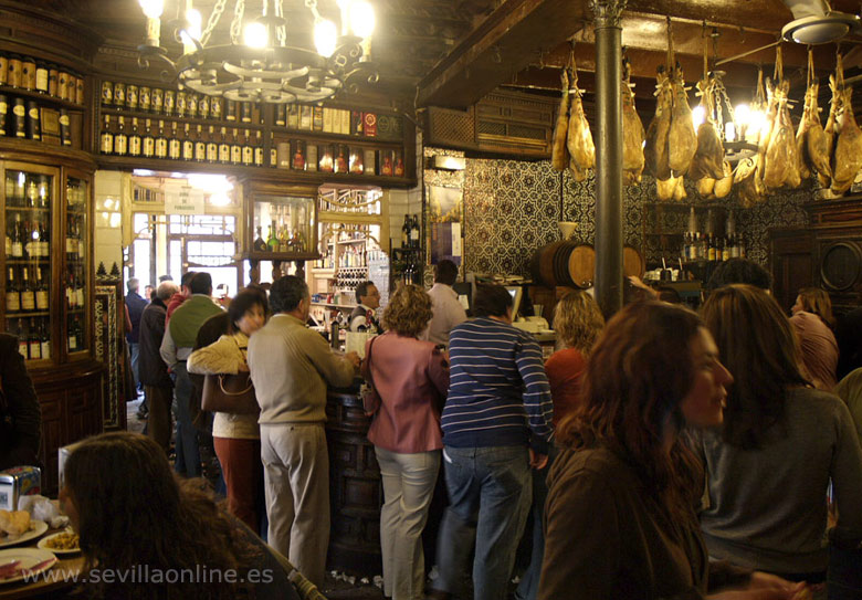 bar El Rinconillo, the oldest bar in Seville, since 1670