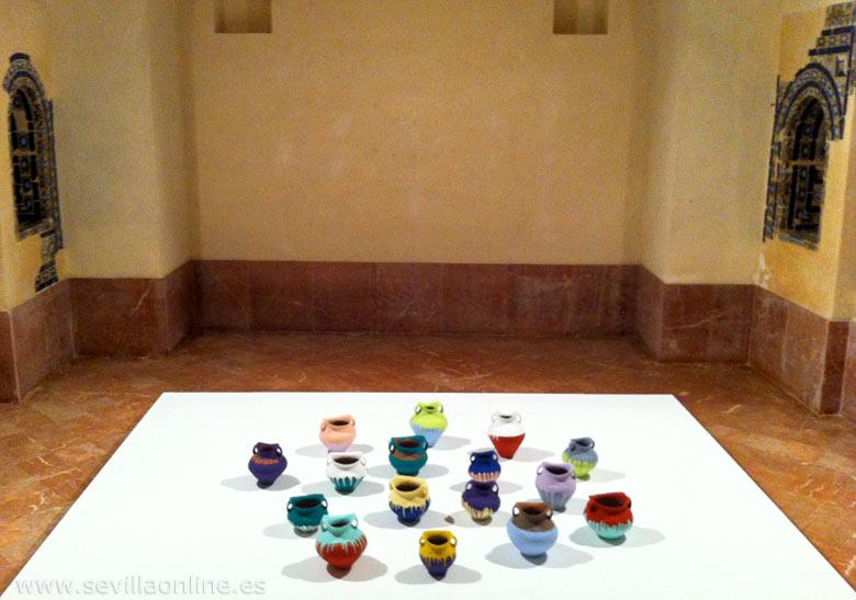 Ai Weiwei Colored Vases Seville Spain