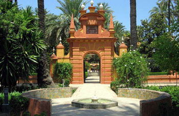 Alcazar, the english gardens - Seville, Spain