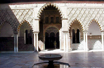 Alcazar, patio de las Doncellas - Seville, Spain