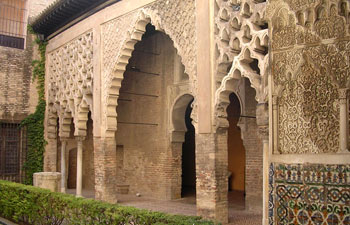 Alcazar, Patio del Yeso - Seville, Spain