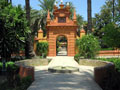 Gardens in the royal alcazar of Seville.