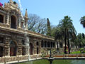 Garden in the Royal Alcazar of Seville.