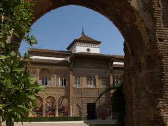 Entrance to the Alcazar palace, Seville.