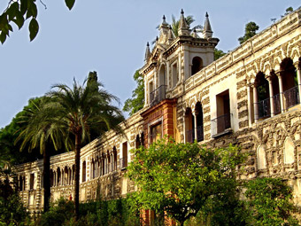 Gardens of the Royal Alcazar of Seville.