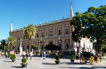 Archive of the Indies in Seville - Andalusia, Spain.