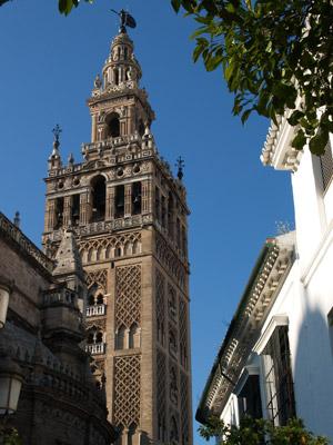 View of the Giralda tower in Sevilla - Seville, Spain.
