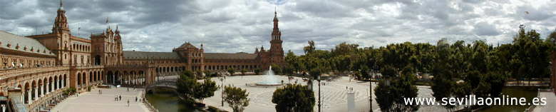 La Plaza de Espa�a (the Spanish square) in Seville, Spain.