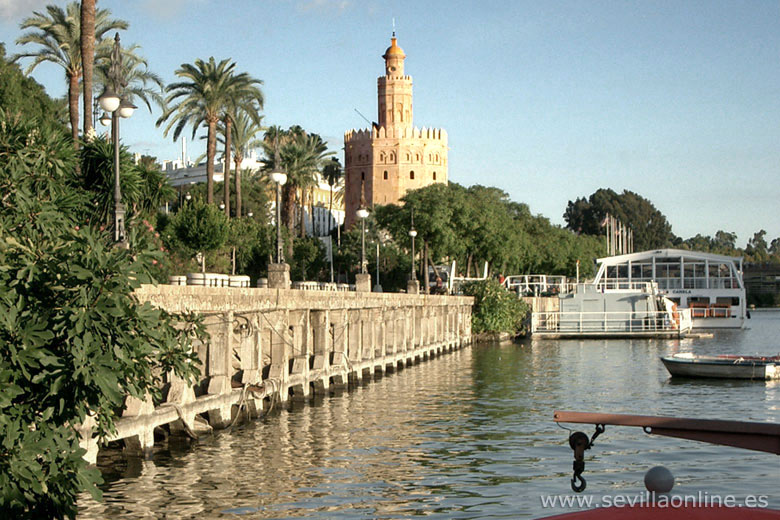 The Guadalquivir River and the Torre del Oro, Seville - Andalusia, Spain.