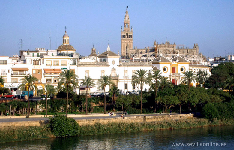 view over sevilla seville spain